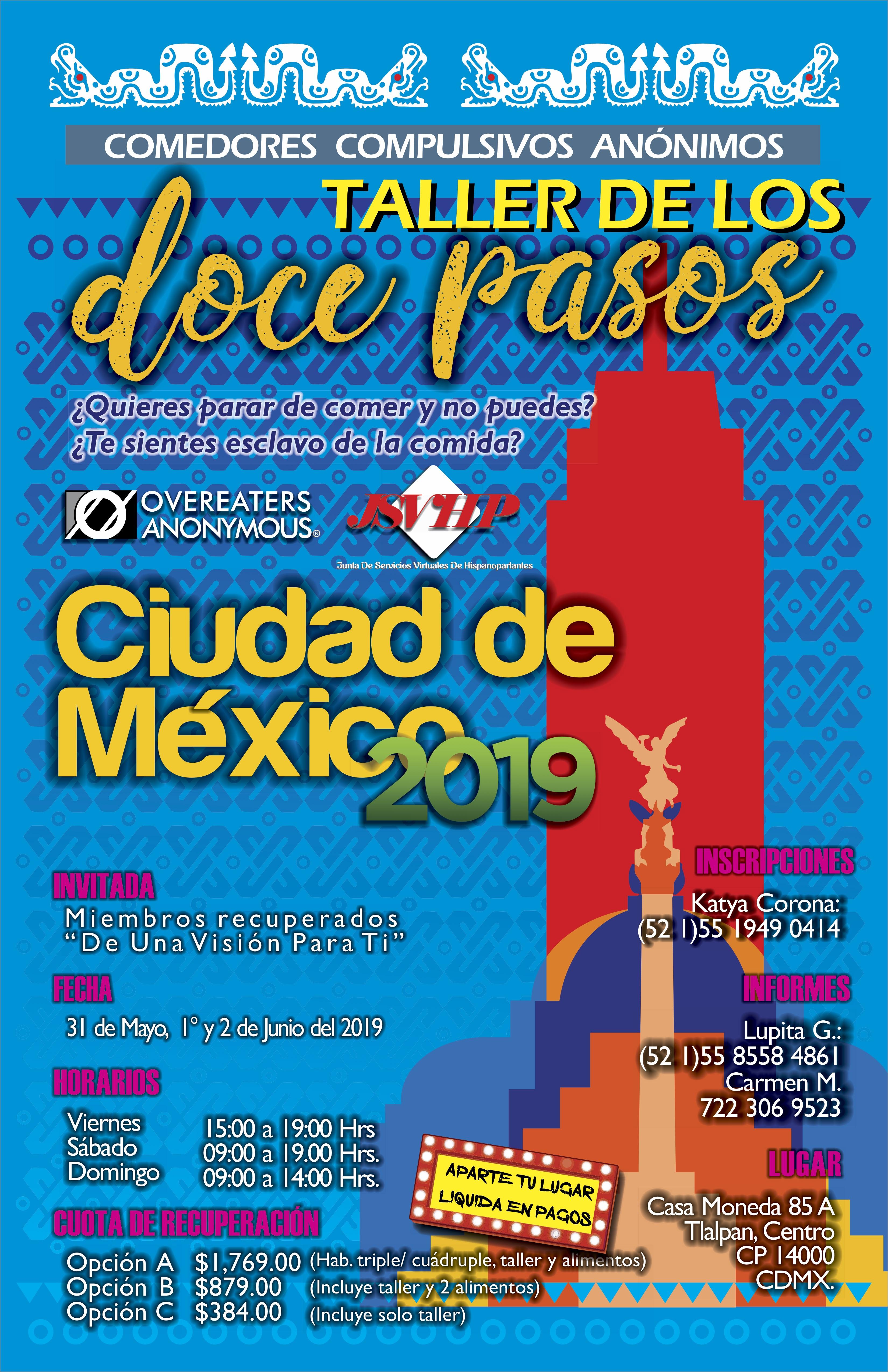 Taller en Ciudad de México :: 31 de mayo a 2 de junio 2019 – Una ...